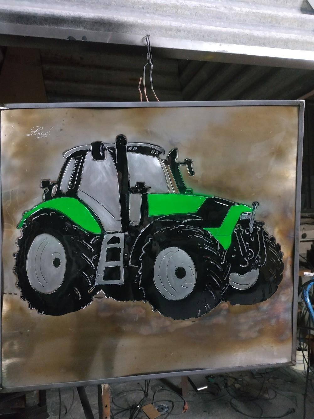 Cadre métal tracteur