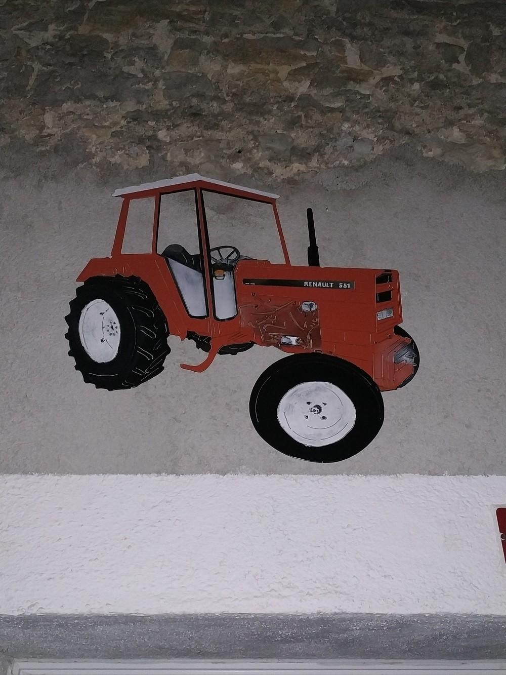 Déco mural tracteur