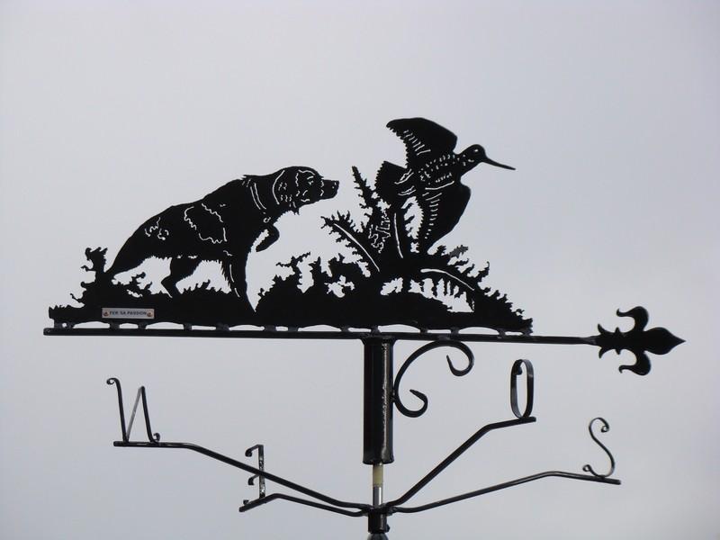 """Girouette """"Épagneul breton à l'arrêt sur une bécasse"""" - 2015"""