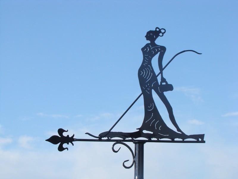 """Girouette """"Femme sophistiquée"""" - 2014 - Réalisée d'après le dessin d'un client"""